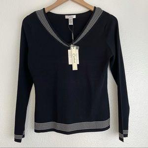 VINTAGE CARDUCCI Knit Striped Sweater
